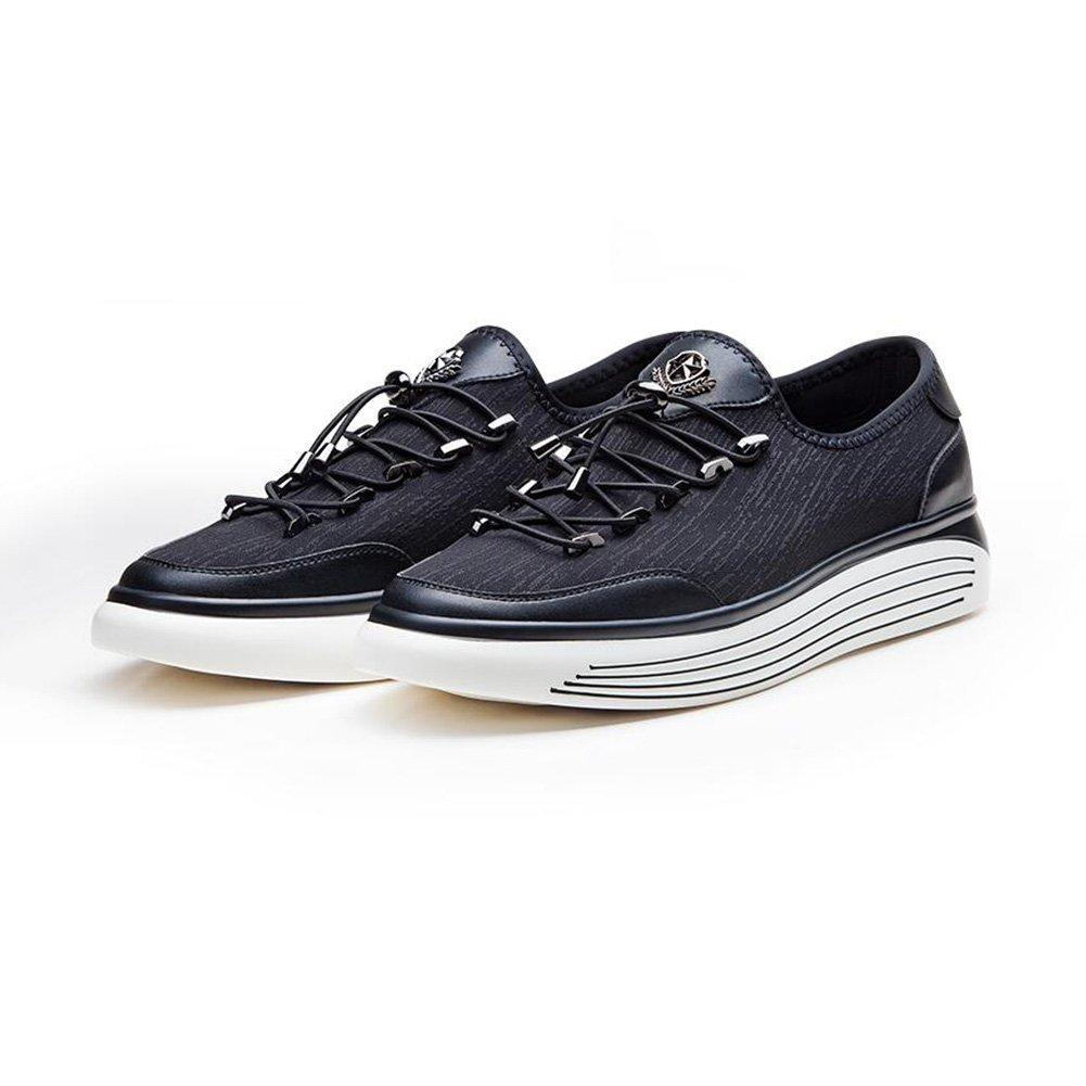 Zapatos para hombre CJC Moda Running Causal Sports Sneakers Athletic Walk Gimnasio Slip On (Color : Black) Black