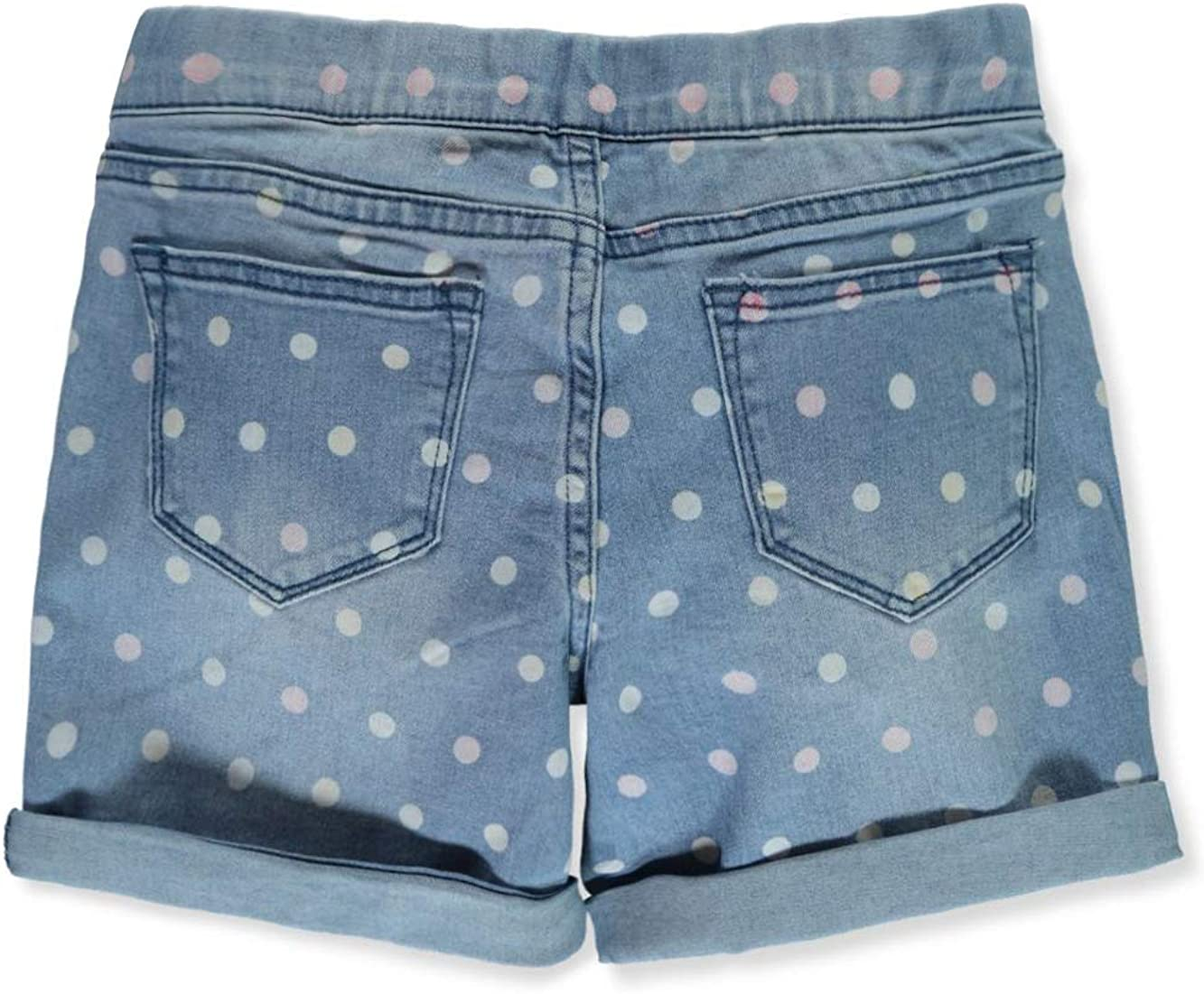 Studio V Girls Polka Dot Denim Shorts