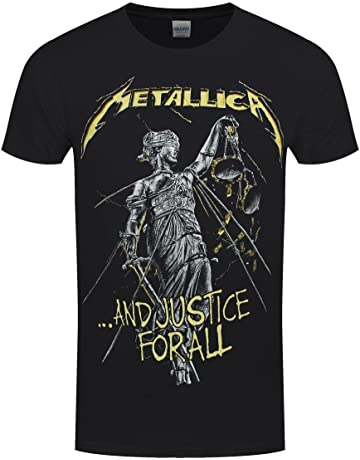 479582a3e Metallica and Justice for All Tracklisting Official Tee T-Shirt Mens Unisex  Black