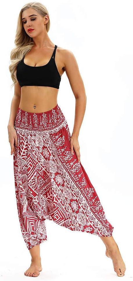 Pantalones Bombacho Mujer Yoga cagados como pantalón Chandal ...