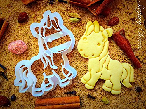 Unicorn Cookie Cutter - Unique Princess Cookies - Halloween Themed - Birthday Party Favors and Supplies - Ocean Theme Shapes - 3D Bakeware Cutters - Cute Animal Shaped Molds for Kids by Sugary Charm -