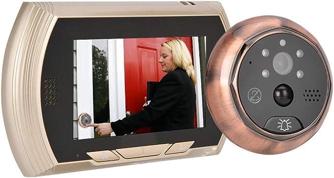 Timbre de video con mirilla digital, cámara de visor electrónico de puerta WiFi de 4.3 pulgadas