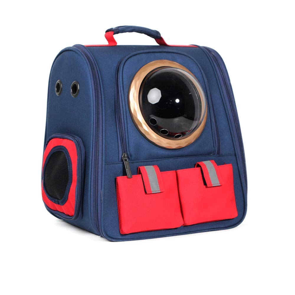 bluee-A Tao-Miy Portable Travel Pet Carrier Backpack,Canvas color Space Capsule Pet Backpack,Waterproof Handbag Backpack for Cat and Small Dog (color   bluee-A)