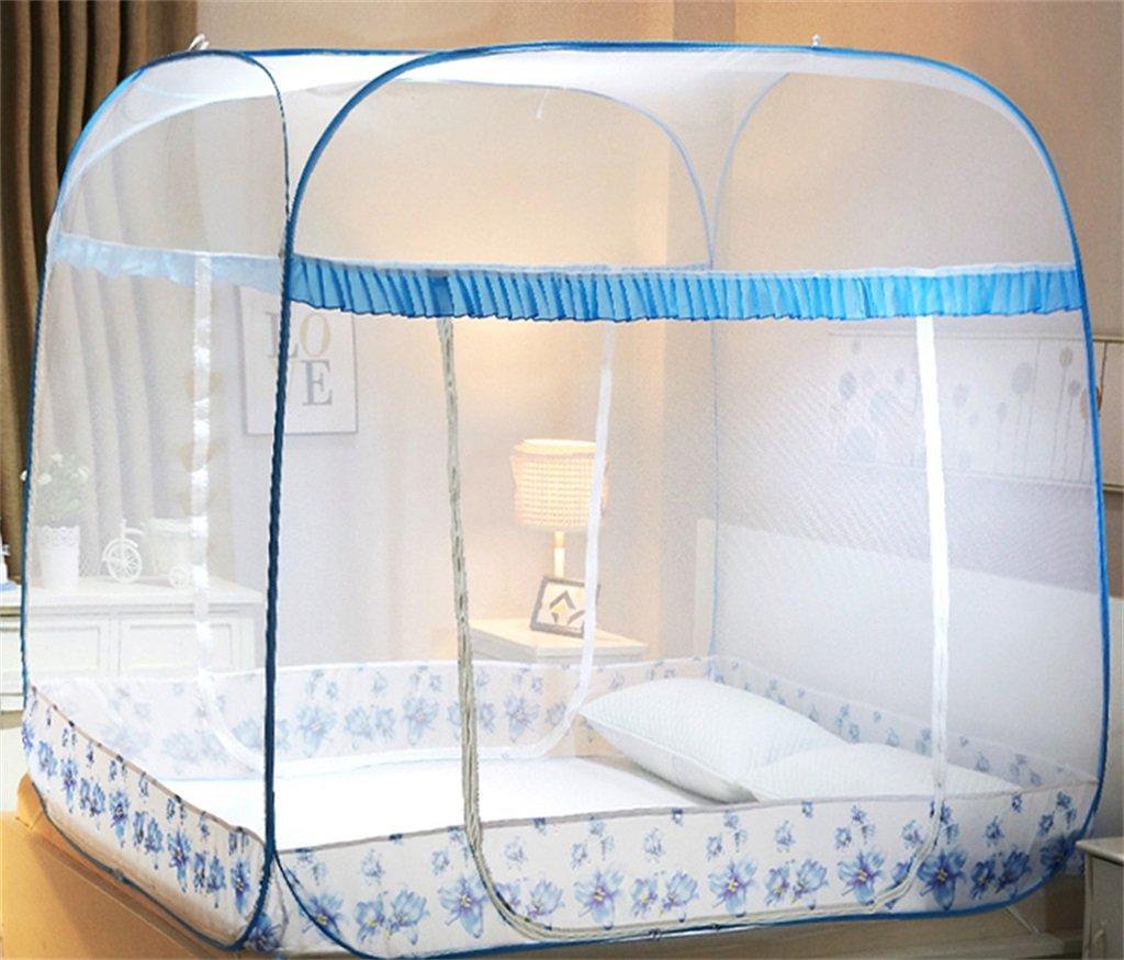 Moskitonetz-Bett-Überdachungs-Zelt-Vorhänge für Betten Schlafzimmer, das frei ist, faltender Reißverschluss-tragbarer Innenkampierender Student im Freien zu setzen, 1.5 / 1.8m Bett zu gehen ( Farbe : C , größe : 1.8M )