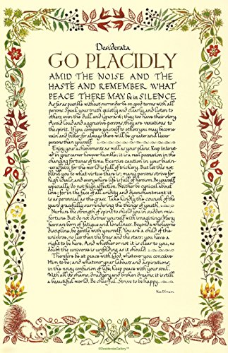 Made In Usa 11 X 17 Poster Calligraphy Wildflowers Desiderata