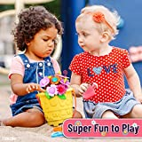FunzBo Flower Garden Building STEM Toys - Gardening Pretend Gift for Girls Kids Toy - Educational Activity for Preschool Children Age 3 4 5 6 7 Year Old - Stacking Game for Toddlers playset