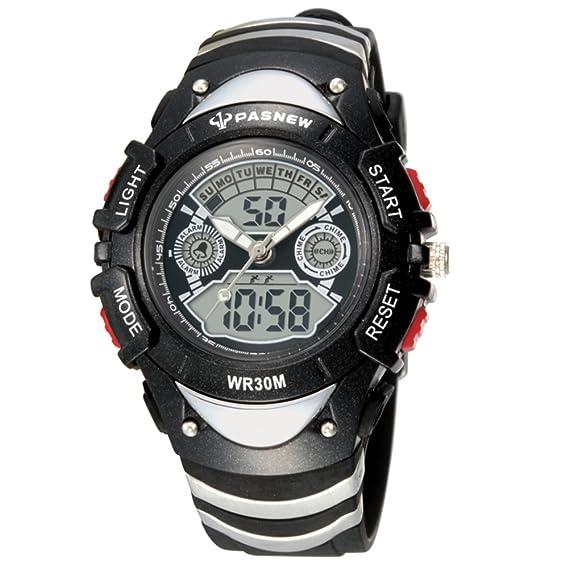 Los relojes de los hombres aire libre impermeable reloj deportivo escalar montañas mesa multifunción boys-F: Amazon.es: Relojes