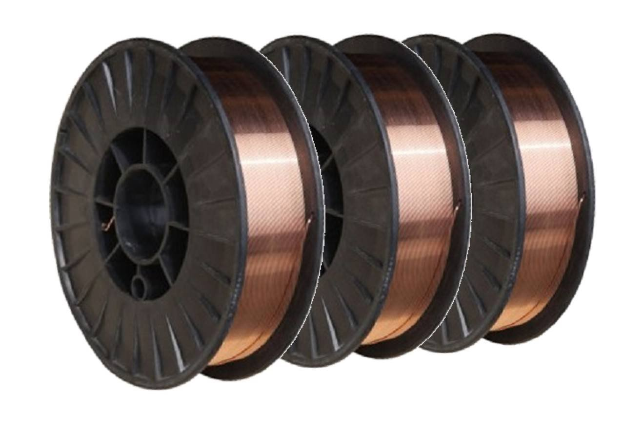 ER70S-6 - MIG Mild & Low Alloy Steel Wire - 11 Lb x 0.030'' - (3 SPOOLS) by TGB