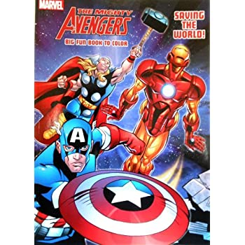 Amazon.com: Marvel Avengers Coloring Book with 6 Avengers Masks ...