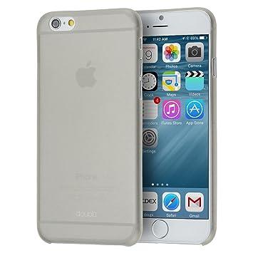 doupi Ultraslim Case para Apple iPhone 6 iPhone 6S (4,7 Pulgadas) 4.7 Fein Mate Ligera Funda Bumper Cover Funda Carcasa Rígida, Gris