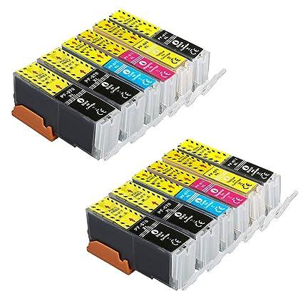 DASKOO - Juego de 2 cartuchos de tóner para Canon PGI-570 CLI-571 ...