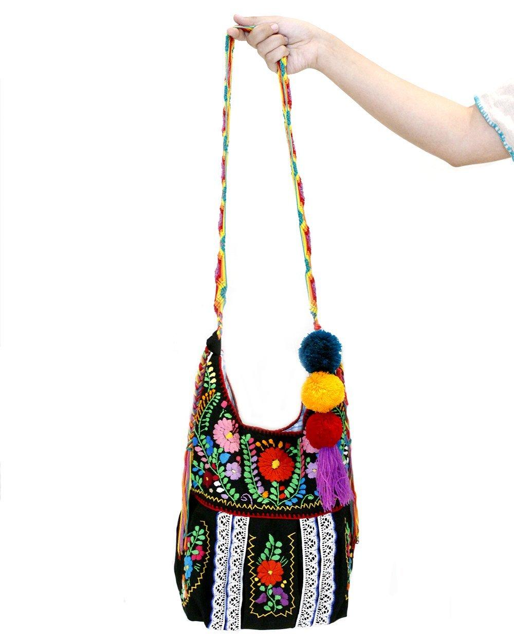 Jody Crossbody Handbag Purse Mexican Embroidery