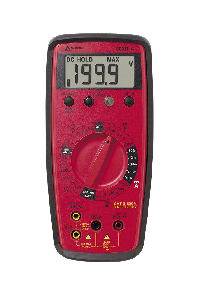 Amprobe 30XR-A Manual Ranging Digital Multimeter with VolTect Non-Contact Voltage Detection