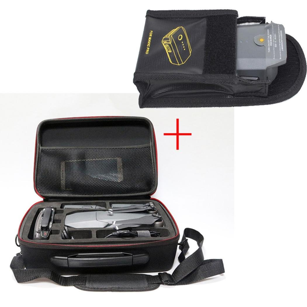 Leewa Waterproof PC +ABS Shoulder Bag Carrying Case + Lipos Battery Safe Bag Protector For DJI Mavic Pro Drone