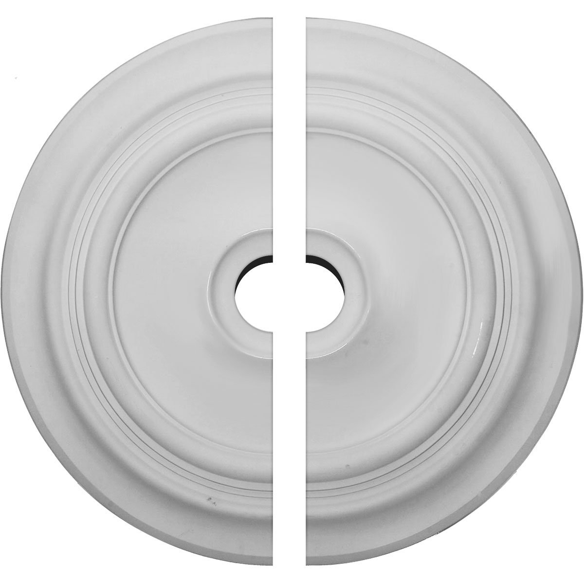 Ekena Millwork CM24TR2-03500 24 3/8''OD x 3 1/2''ID x 1 1/2''P Traditional Ceiling Medallion, Fits Canopies up to 5-1/2'', 2 Piece