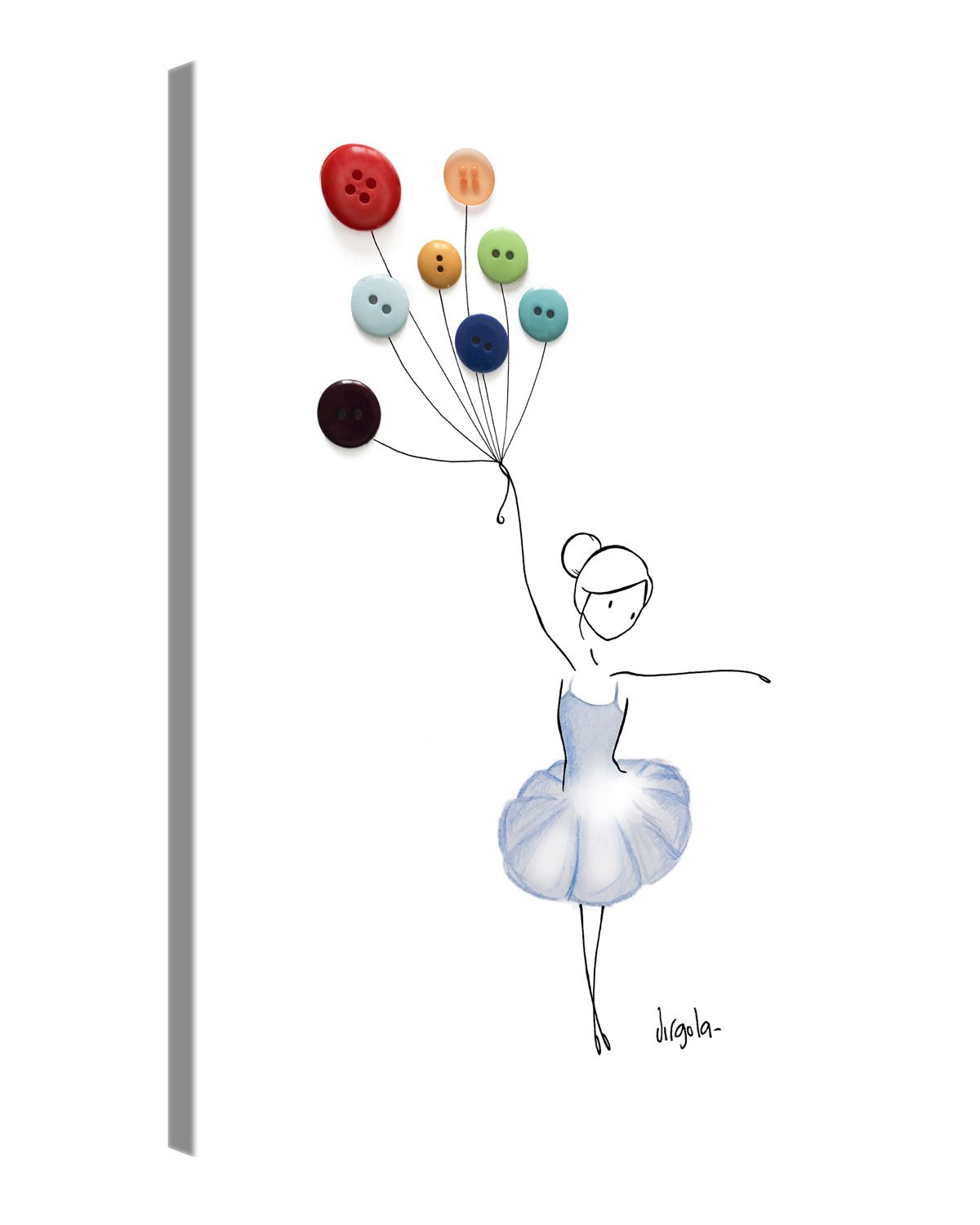 Amazon.de: Premium Leinwanddruck 30x40 cm - Balloon Dancer ...