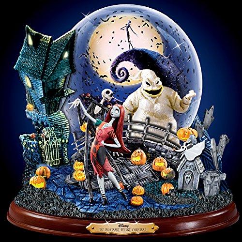 Disney Tim Burton's The Nightmare Before Christmas Illuminated Musical Snowglobe by The Bradford Exchange by Bradford Exchange (Image #5)