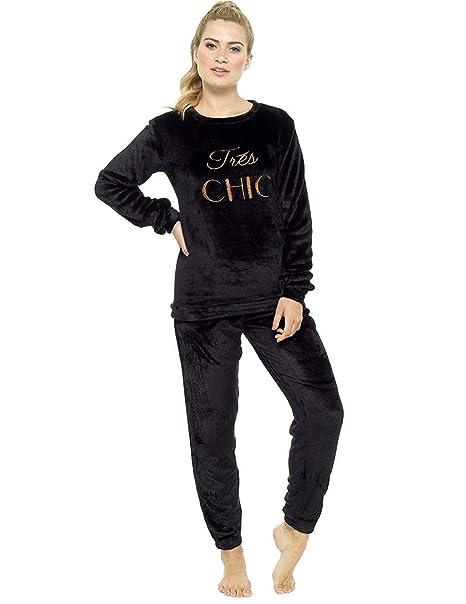 48124ce82811 Ladies Pyjamas Set Womens Loungewear Pyjamas for Women Comfy Warm Soft  Womans Lounge Wear Pjs Sets  Amazon.co.uk  Clothing