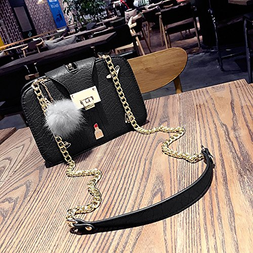 bag leisure Fashionable chain shoulder bag GMYAN square small lady's Black xqSI8FFd