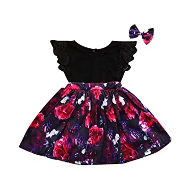 4c99d40aa8c77 Family Matching Clothing Set Lace Floral Dress Skirt and Romper Sister  Clothes for Baby Girl/
