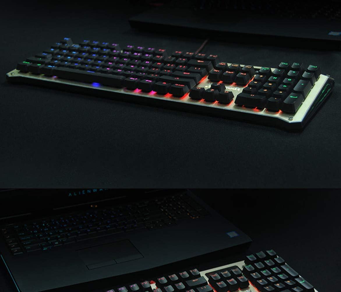 XIAZI Axis Mechanical Keyboard Metal Plate Waterproof RGB Color Diffuse Adjustable LOL Gaming