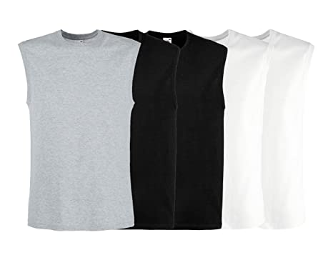 942904a26d6e4 Fruit of The Loom Men s Big   Tall Larger Fit Sizes Round Neck Sleeveless  Casual Leisure Tank Top 5 x Pack  Amazon.co.uk  Clothing