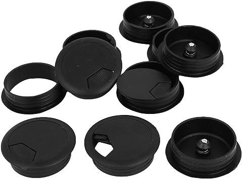 Passe-Câble Table Ordinateur Plastique Cercle Rond Trou De Sortie Câble Noir