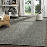 Safavieh Natural Fiber Collection NF730B Hand Woven Grey Jute Area Rug (9' x 12')