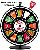 24in Insert Your Own Graphics Dry Erase Prize Wheel with Black Magnetic Frames and Table Stand