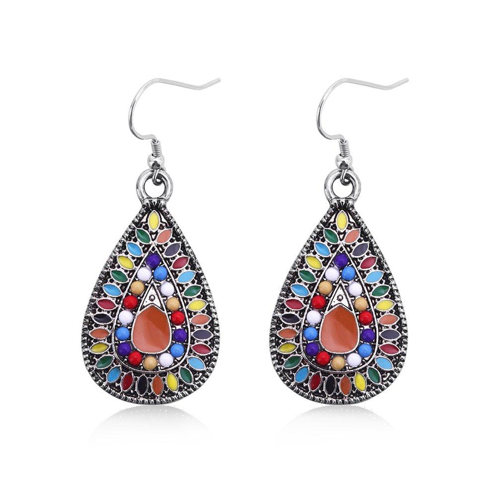 Dangle Earrings Vintage Drop Earring Handmade Bohemian Teardrop Earrings