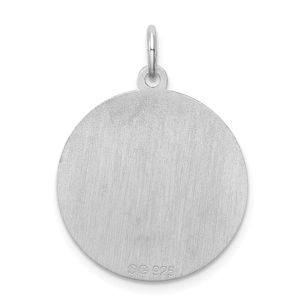 FB Jewels Solid Sterling Silver Greyhound Disc Charm