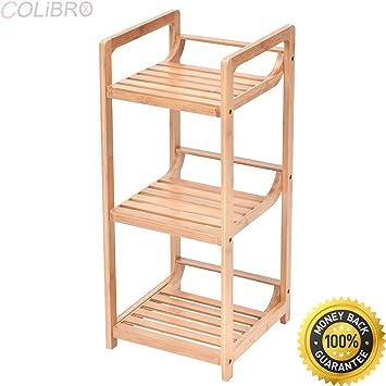 Amazing COLIBROX  3 Tier Bathroom Shelf Bamboo Bath Storage Space Saver Organizer  Shelves Rack