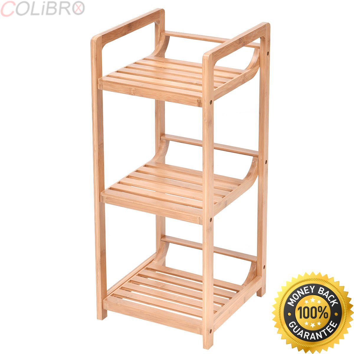 COLIBROX--3-Tier Bathroom Shelf Bamboo Bath Storage Space Saver Organizer Shelves Rack New. bamboo bathroom wall shelf. bamboo bathroom space saver over toilet. bamboo space saver bed bath beyond.