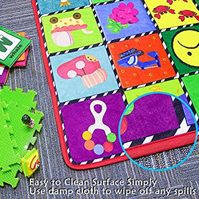 teytoy Baby Rug for Crawling - How Many Are There? Kids Area Rugs Educational Play Mat for Room Decor, Count Game, Learn Animals, Expressions, Family Beach Carpet Outdoor Indoor Gift 3.4' x 5': Toys & Games