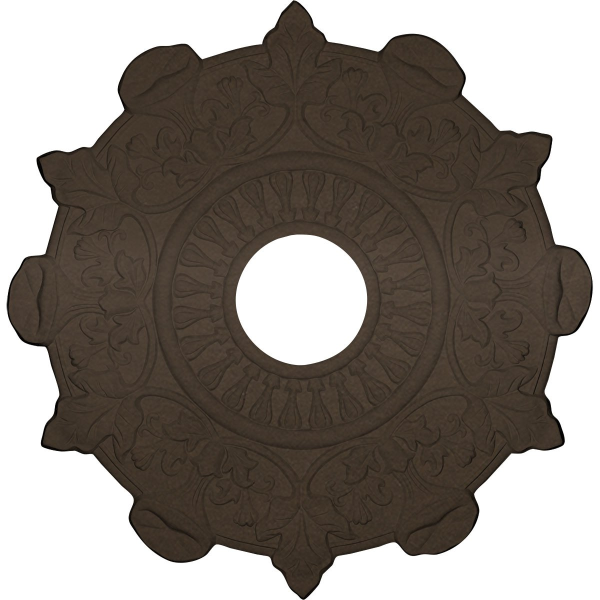 Ekena Millwork CM17PRBZS Preston Ceiling Medallion fits Canopies up to 4'', Bronze by Ekena Millwork