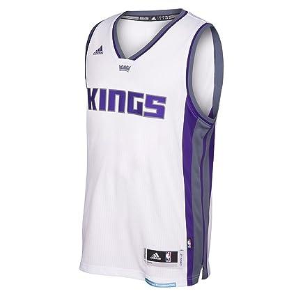 3aca67c95 Amazon.com   adidas Sacramento Kings NBA White Swingman Jersey Men ...