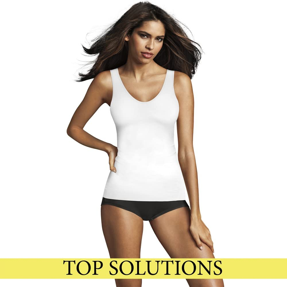 Flexees Women's Maidenform Women's Sleek Smoothers 2 Way Tank at  Women's Clothing store