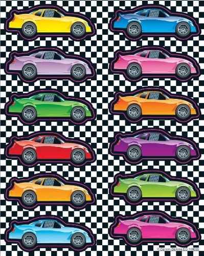 Carson Dellosa Race Cars Shape Stickers (168065)