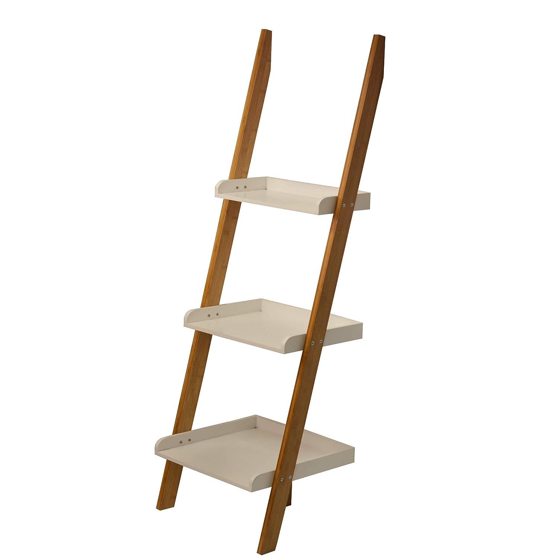 Strange Showerdrape Kobe 3 Tier Bamboo Ladder Shelving Unit Interior Design Ideas Clesiryabchikinfo