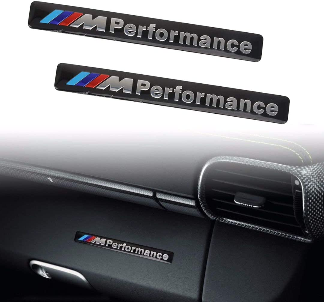 Ispeedytech 2Pcs M Performance Car Logo Hood Decal Sticker Emblem for BMW BLACK