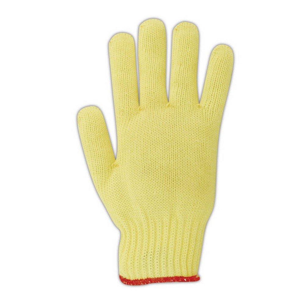 Magid Glove & Safety 93KVP-10 Magid Cut Master 93KVP Medium Weight Kevlar PVC Dotted Knit Gloves - Cut Level 3, Men's (Fits Large), Yellow, 10 (Pack of 12)