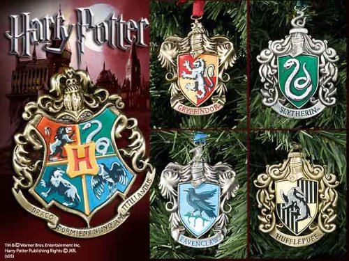 amazoncom harry potter hogwarts christmas ornaments set of five decorative hanging ornaments everything else - Harry Potter Christmas Decorations