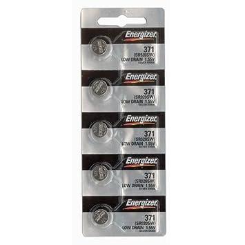Energizer 371 o 370 la célula del botón de óxido de plata SR920SW 5 Pilas para relojes: Amazon.es: Deportes y aire libre