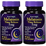 Natrol Melatonin 5mg Time Release - 100 Tablets (Pack of 2 bottles)