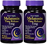 #9: Natrol Melatonin 5mg Time Release - 100 Tablets (Pack of 2 bottles)