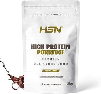 Gachas de Avena Proteicas de HSN | Porridge Proteico | Fácil y Rápido de Preparar | Con Proteína de Suero | Bajo en Azúcar | Apto para la Dieta ...