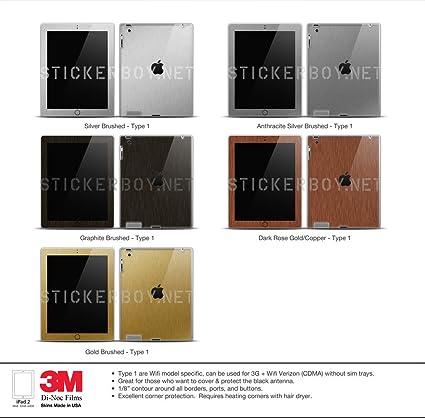 Amazon.com: Metal Series - iPad 2 - Graphite Brushed / Back ...