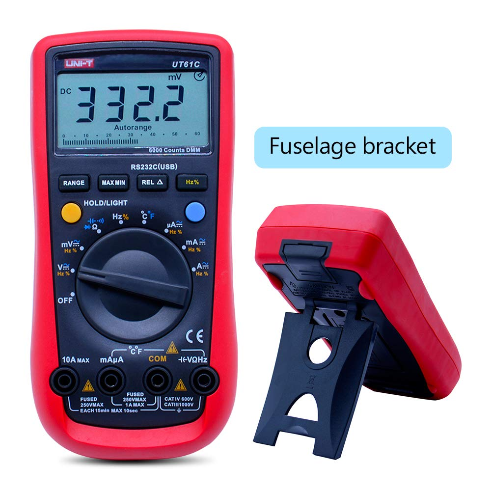 UNI-T multimeter tester UT61C autoranging multimeter volmate Ammeter ac dc multimeter capacitance temperature reisistance RS232 USB multimeter interface by OUTEST