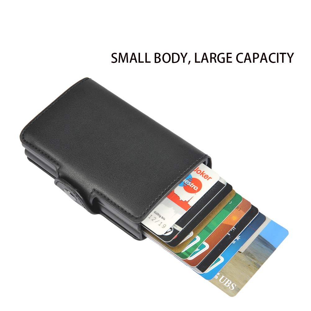 Portefeuille pour Carte de Cr/édit et Billets pour Homme et Femme 6.8 2.5cm Portefeuille Noir Petit Mince de Cuir YOTINO Portefeuille pour Carte de Cr/édit 10