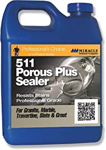 Miracle Sealants 511 Porous Plus Penetrating Sealer Resists Stains Professional Durable Grade 1 Gallon